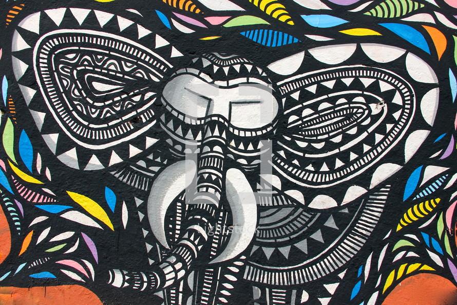 elephant abstract art