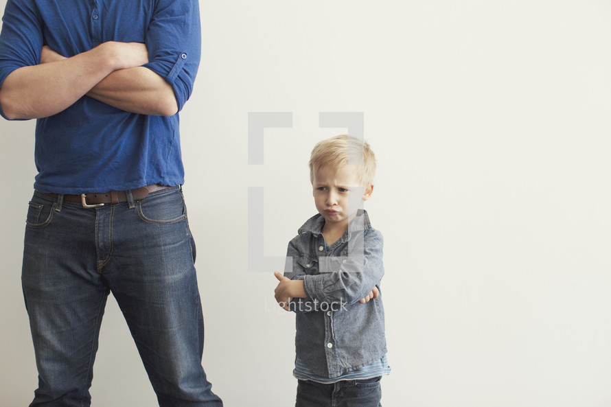 Angry son after getting into trouble and being punished.