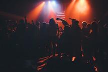 dancing at a club