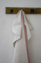 towel on a hook