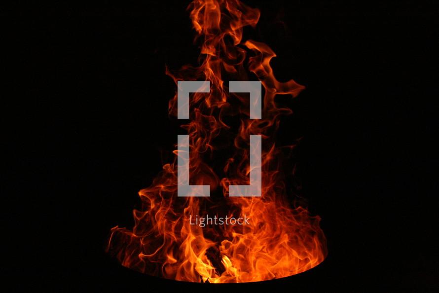 twirling flames, fire