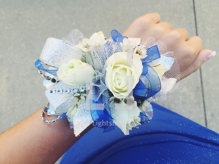 corsage on a wrist