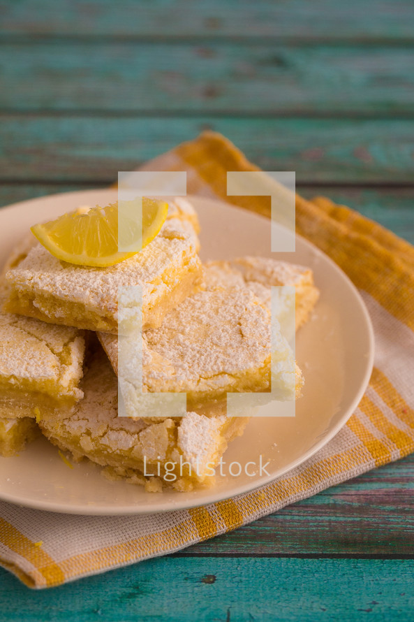 baked lemon bar