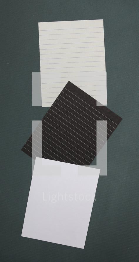 diffrent colored paper