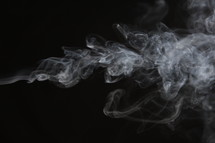 smoke in darkness