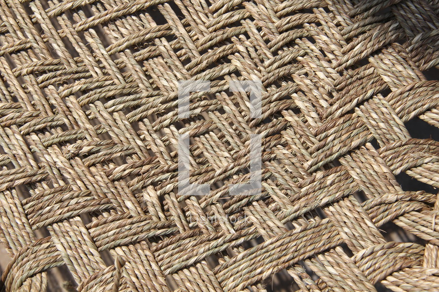 Indian woven basket weave like bed