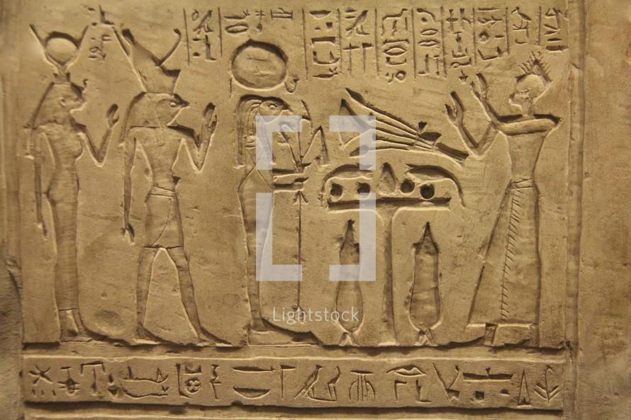 Egyptian hieroglyphics and pictograms