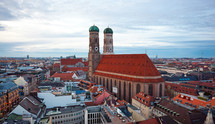 The Church of Our Lady (Frauenkirche) in Munich, Germany, Bavaria.