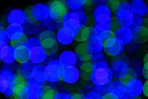blue and green bokeh Christmas lights