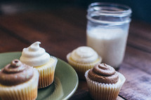cupcakes and milk