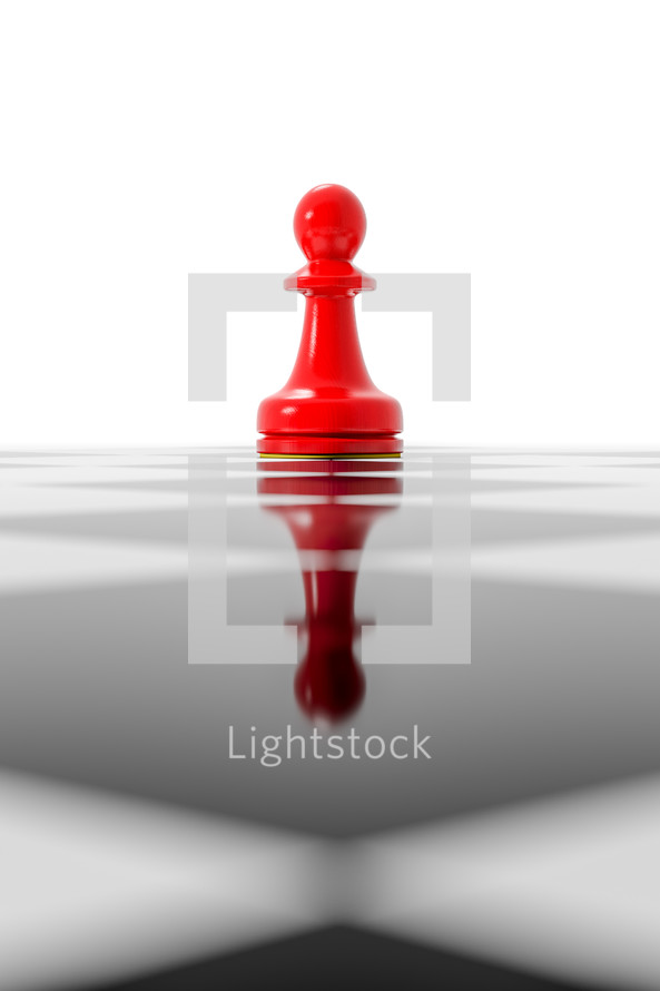 chess, red pawn
