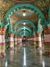 A long hallway.