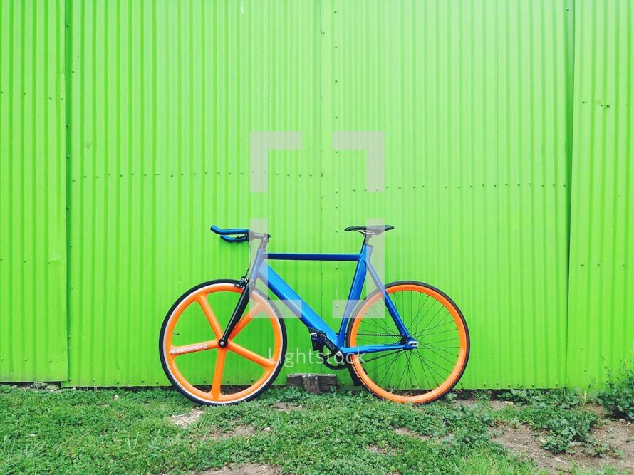 A parked bike