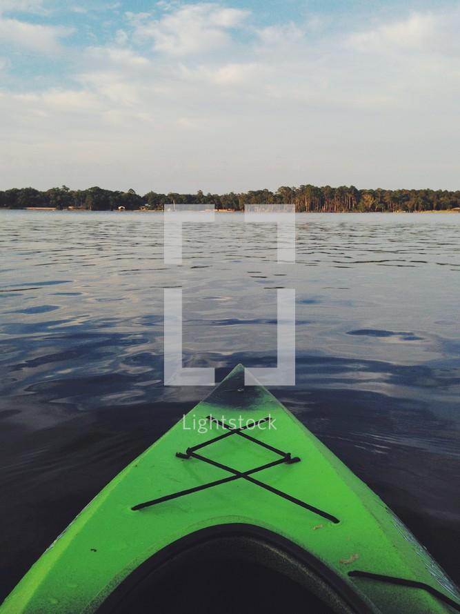 A Kayak bow.