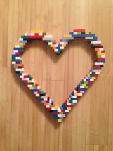 A heart made out of legos.