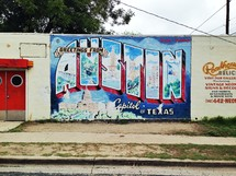 Austin, Texas welcome sign.