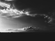 Black and white clouds.
