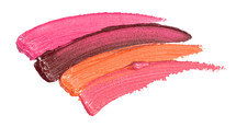 Lipstick and Lip Gloss Swatch Isolated on a White Background