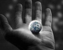 He has the whole world in his hands