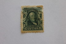 One cent stamp.