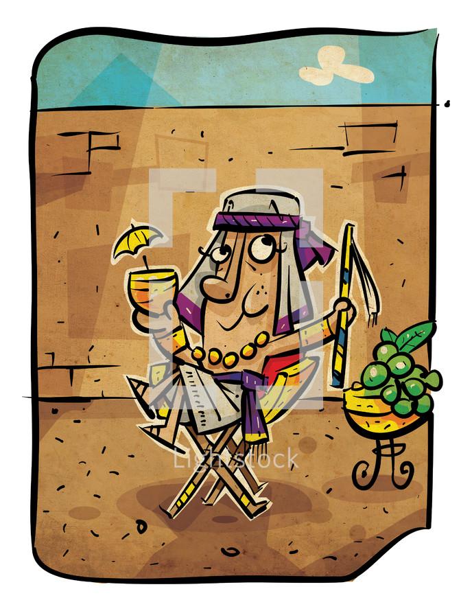 coloring sheet, coloring book, Joseph, Joseph blessed, biblical figure, illustration