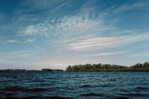 choppy lake water