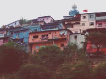 homes on a hillside