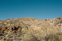Rocky, barren hillside
