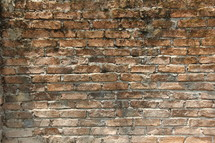 Rough brick wall