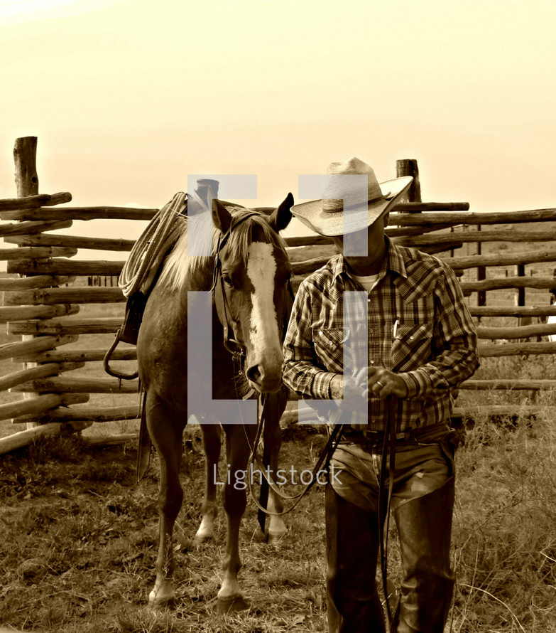 man on the ranch