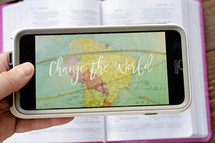 change the world on an iPhone screen
