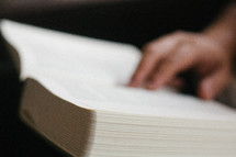 person reading a Bible