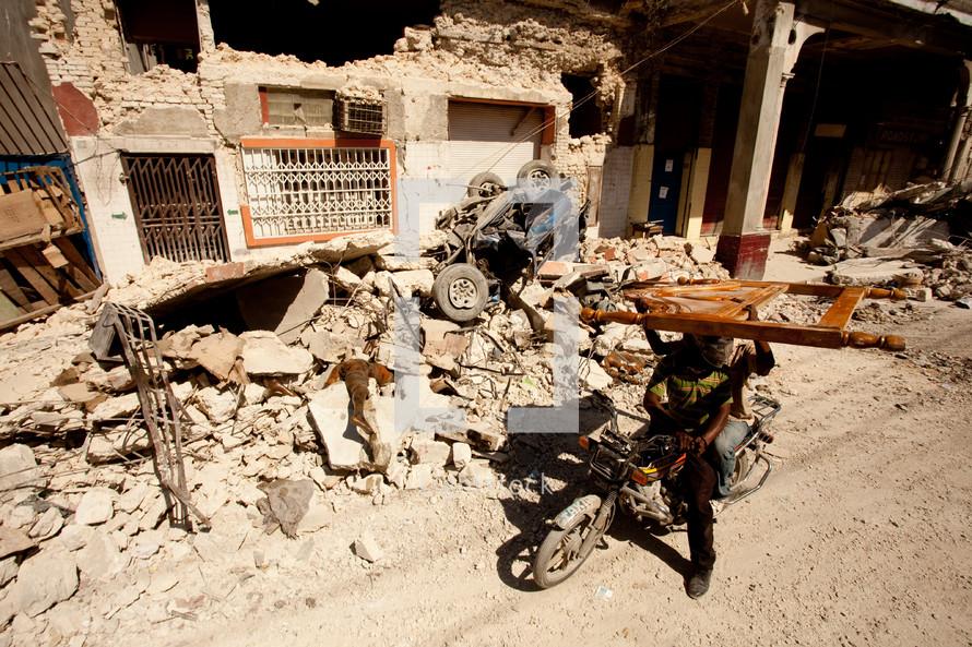 a war torn city