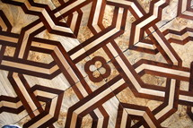 Parquet patterned decorative wooden floor