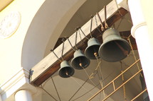 Church bells in the bell tower.
