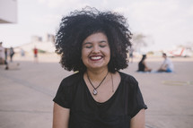 a smiling missionary woman