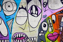 abstract art faces