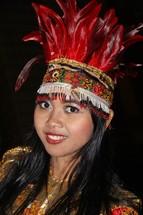 woman in a headdress