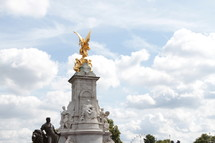 golden angel statue in London, England