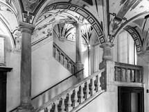 marble staircase and arches