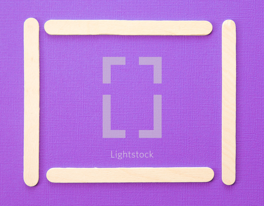 popsicle border on purple