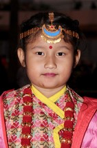 Hindu girl in traditional clothing