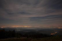 morning fog over a mountain top