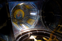 painting of Jesus on the ceiling of a dome