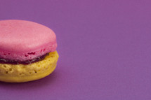Colorful French Macaron Sandwich Cookie