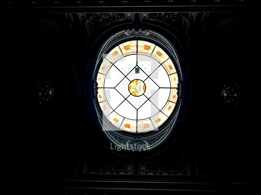 round stained glass window
