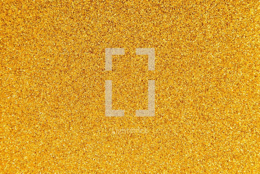 yellow Glitter Background