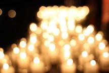 bokeh candlelight