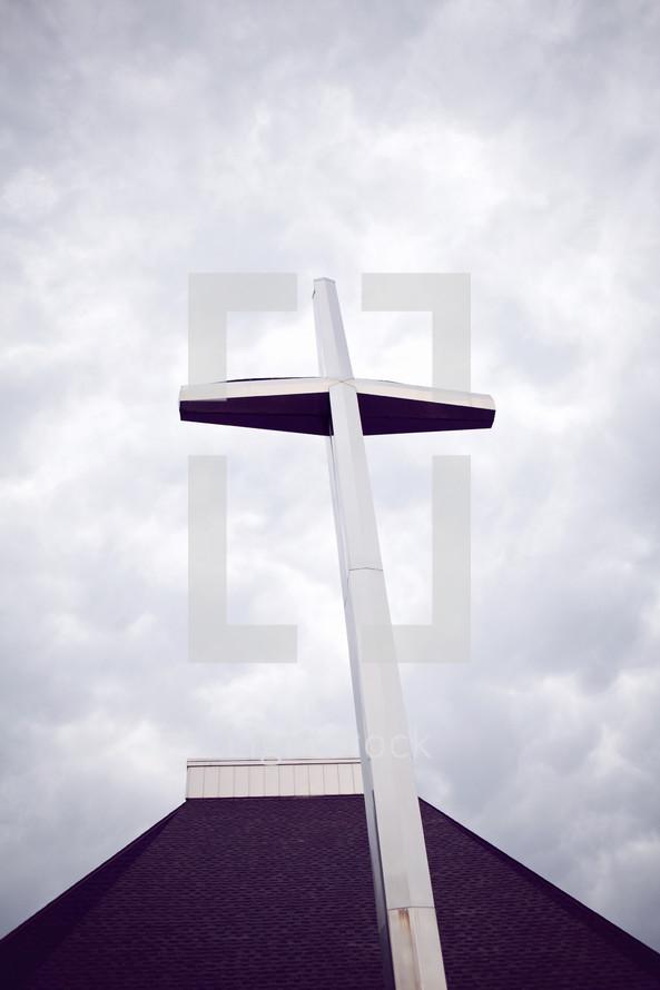 cross on a church