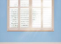 shutters on a window
